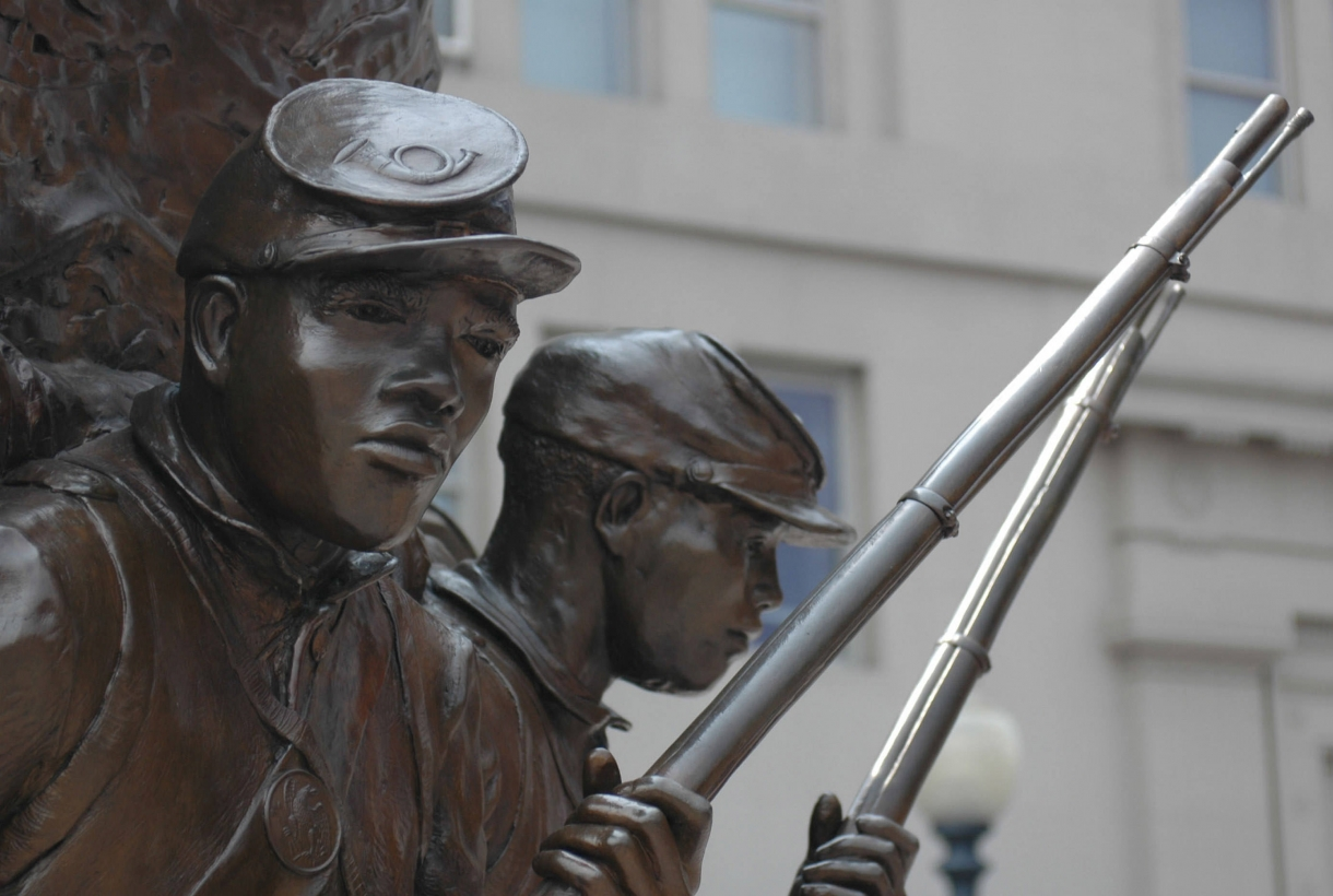 Closeup of the monument