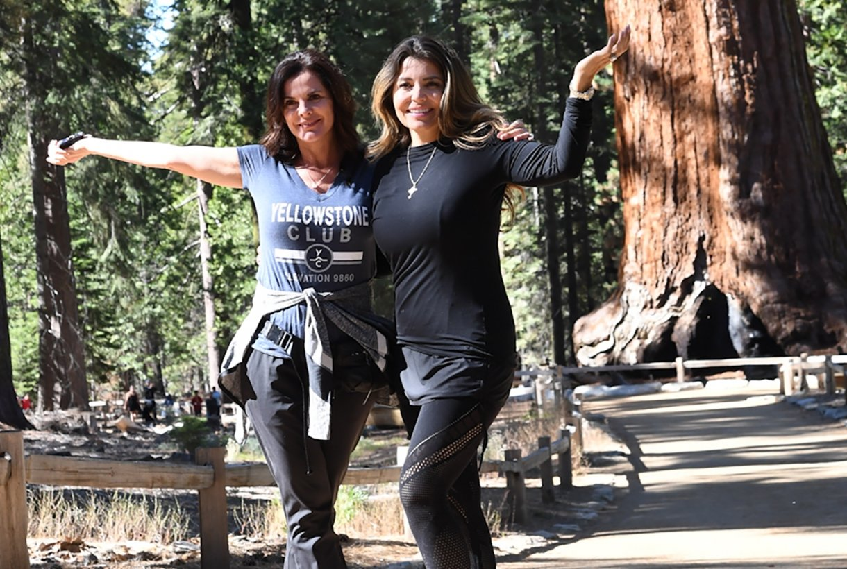 NPF Board Directors Patty Arvielo and Mindy Burbano Stearns pose for a picture in Yosemite National Park