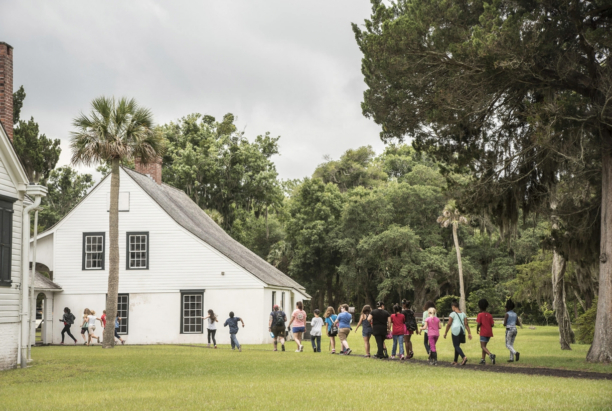 Students at the Kingsley Plantation