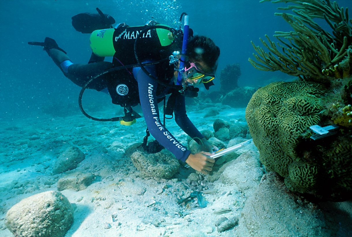 Underwater research at Dry Tortugas National Park