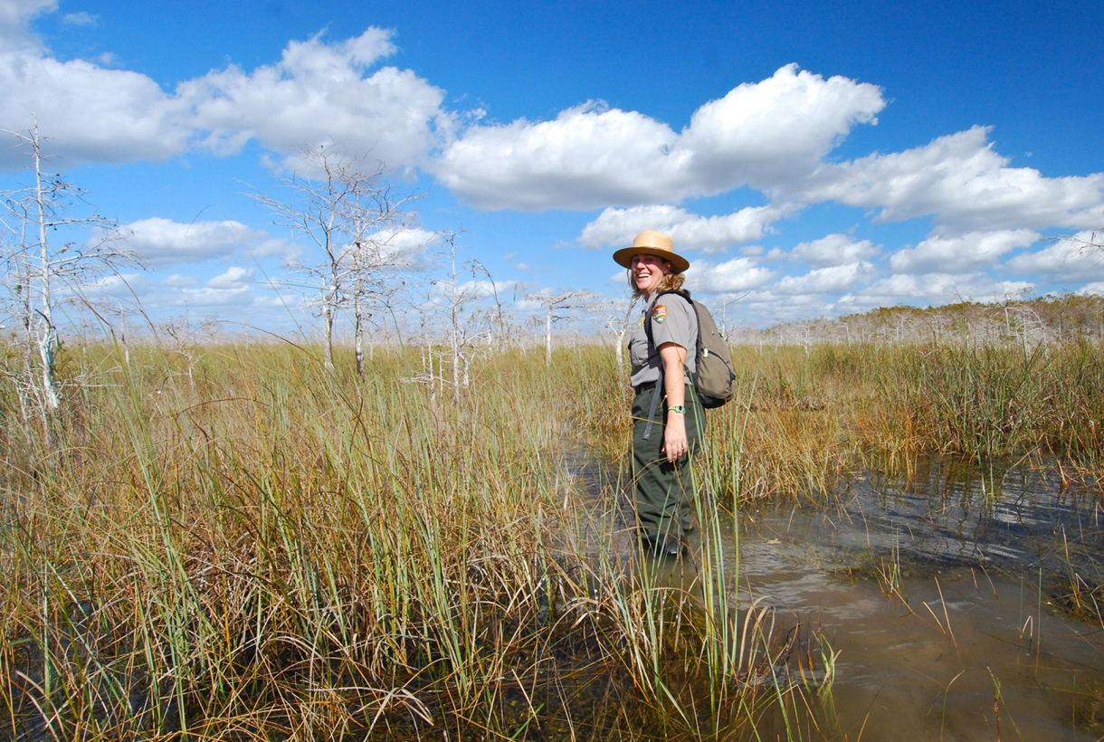 Ranger Allyson Gantt at Everglades National Park