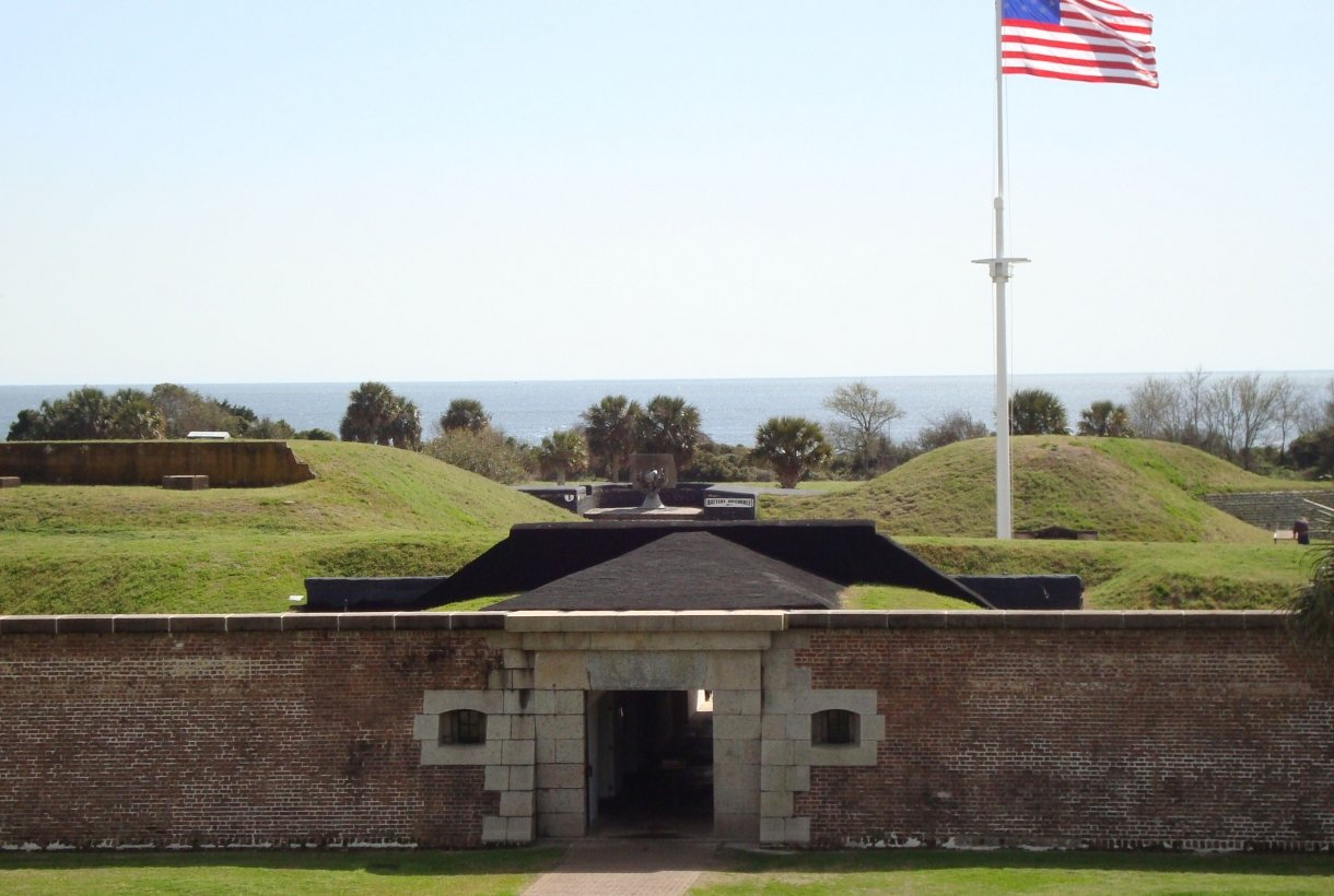 Fort Moultrie's Sally Port, or main entrance, is where visitors begin their exploration of our timeline.