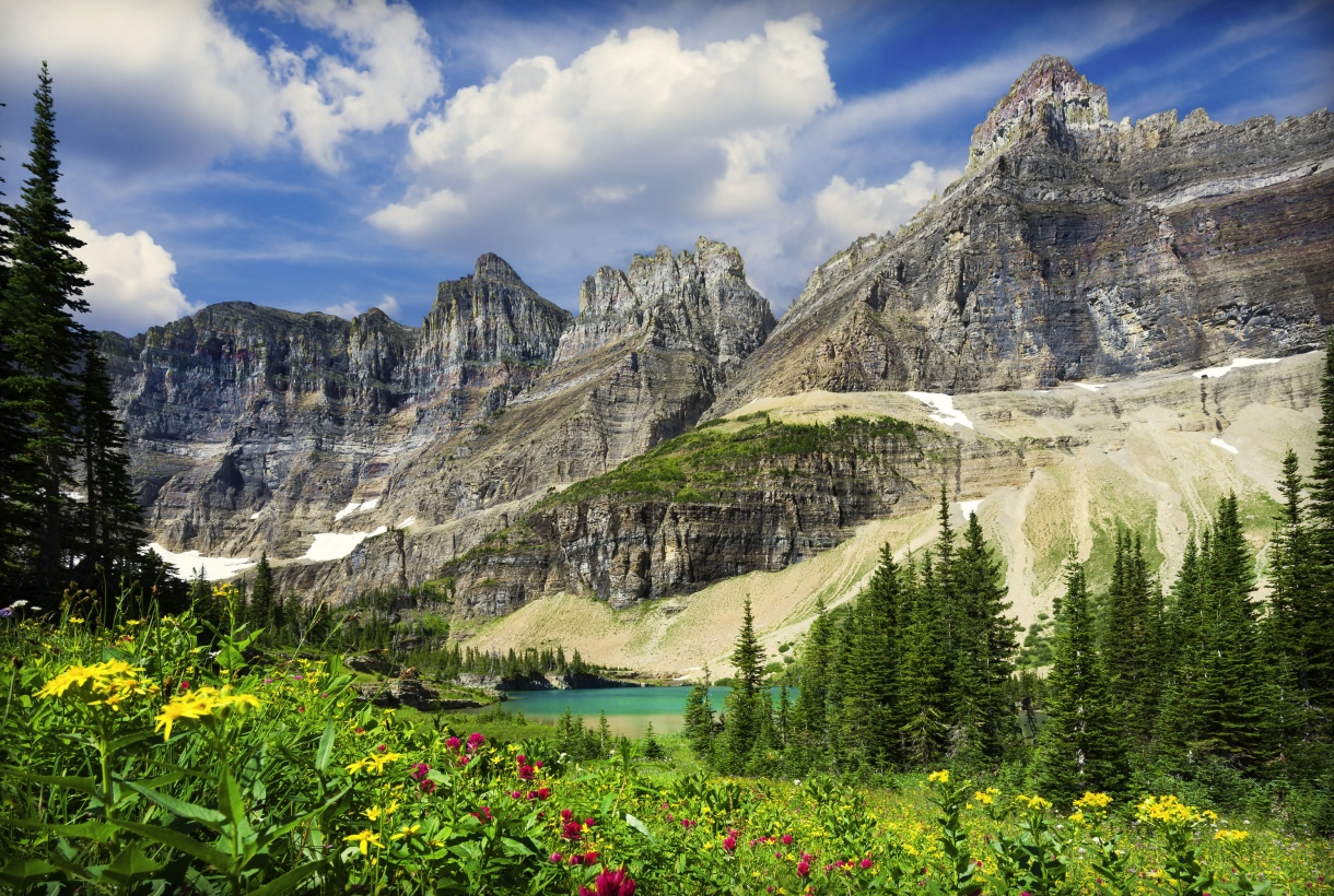 Glacier National Park scene