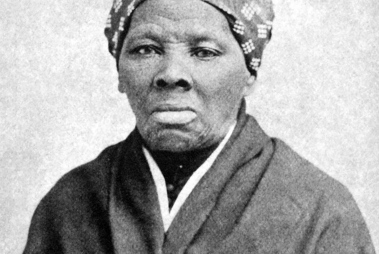 Black and white portrait of Harriet Tubman