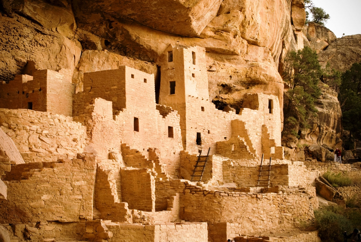 The Pueblo homes at Mesa Verde