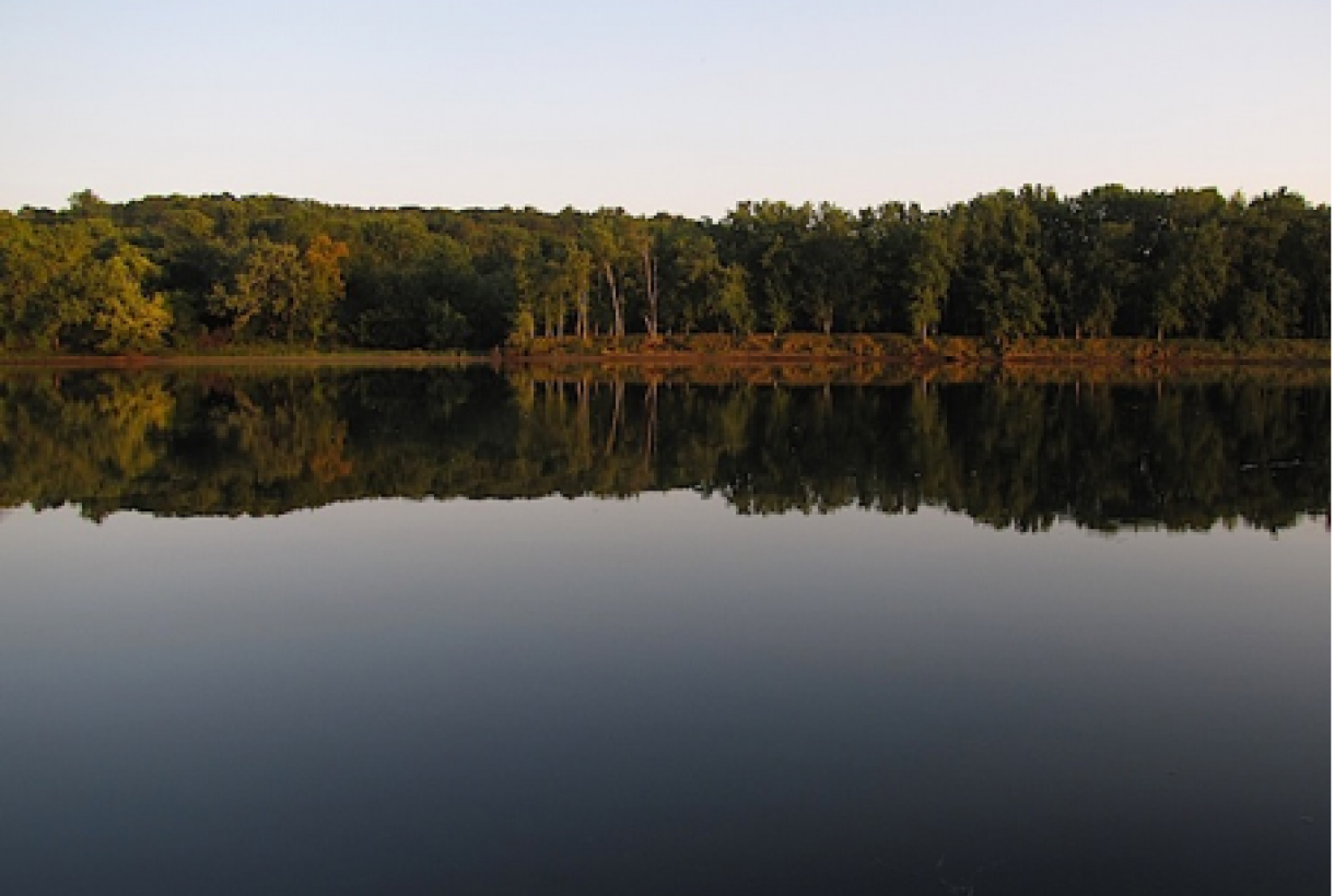 Still waters on the shore of St. Croix river