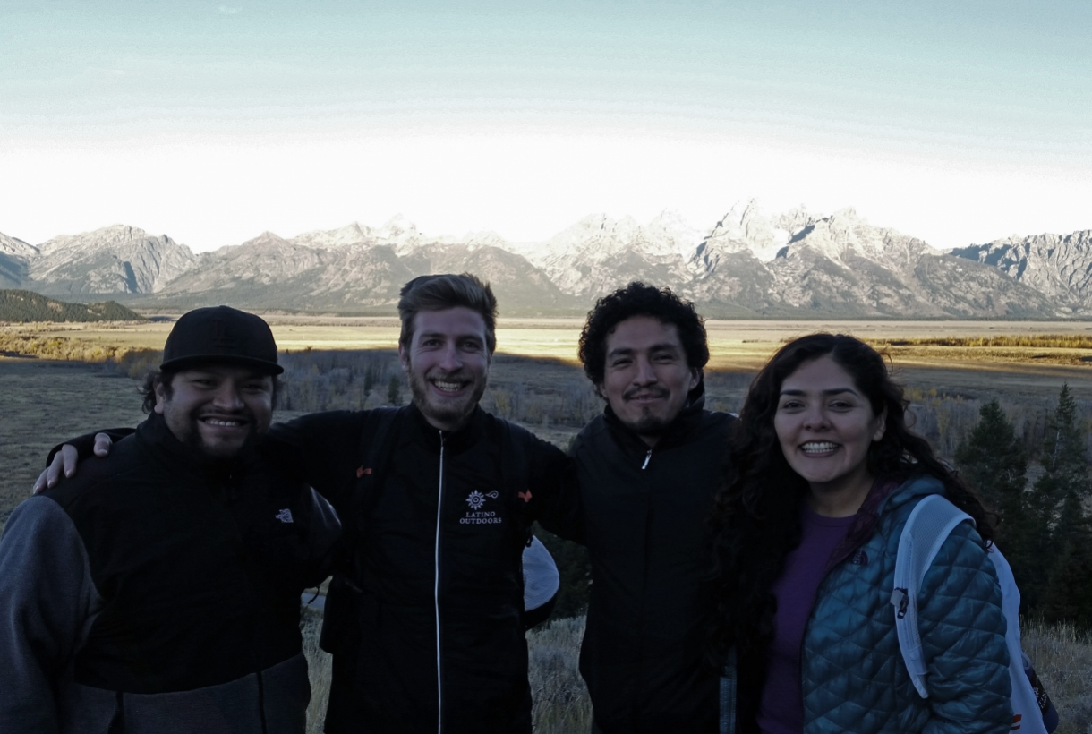 Hanging out with Juan Martinez, José González and Graciela Cabella at Grand Teton Natinonal Park