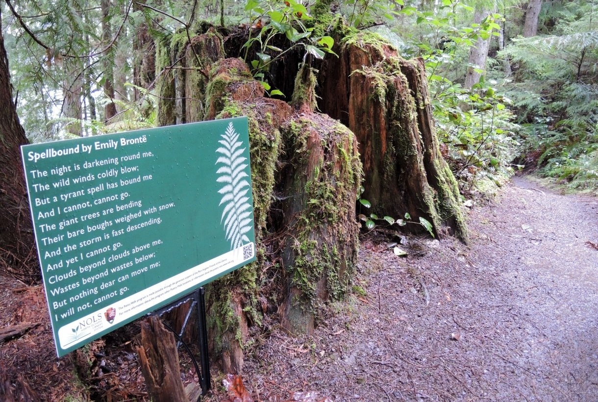 Sign with a poem at Olympic National Park