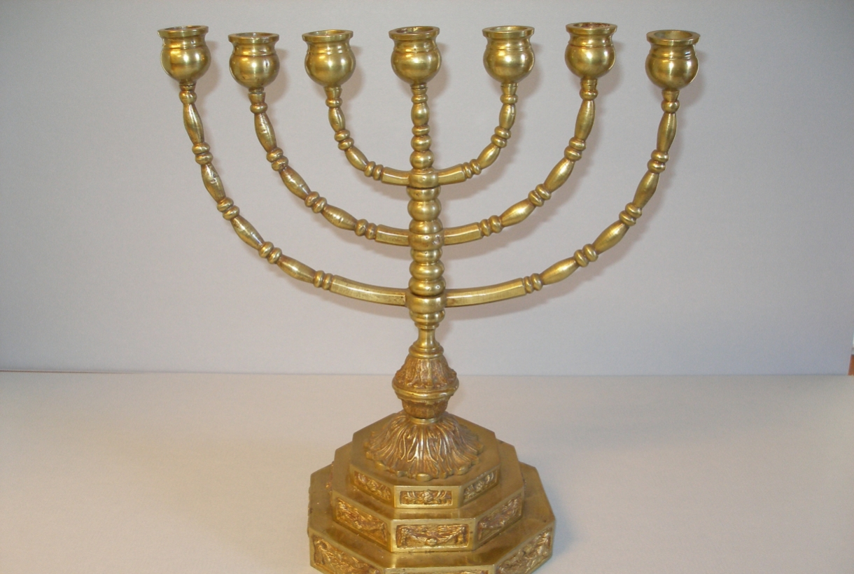 Front side of one of Roosevelt's menorahs