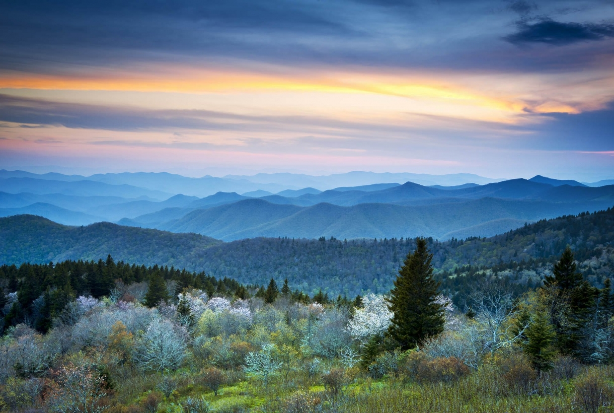Smoky Mountains sky view
