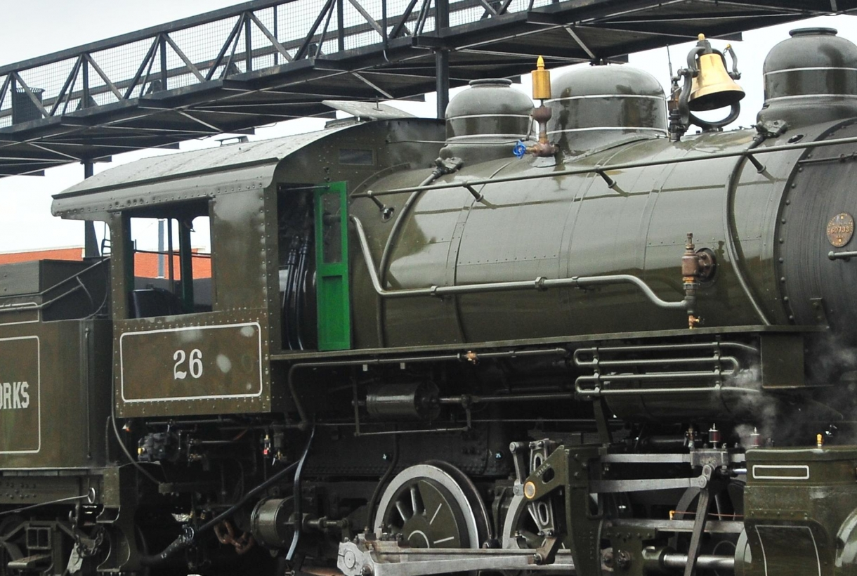 Locomotive train at Steamtown National Historic Park
