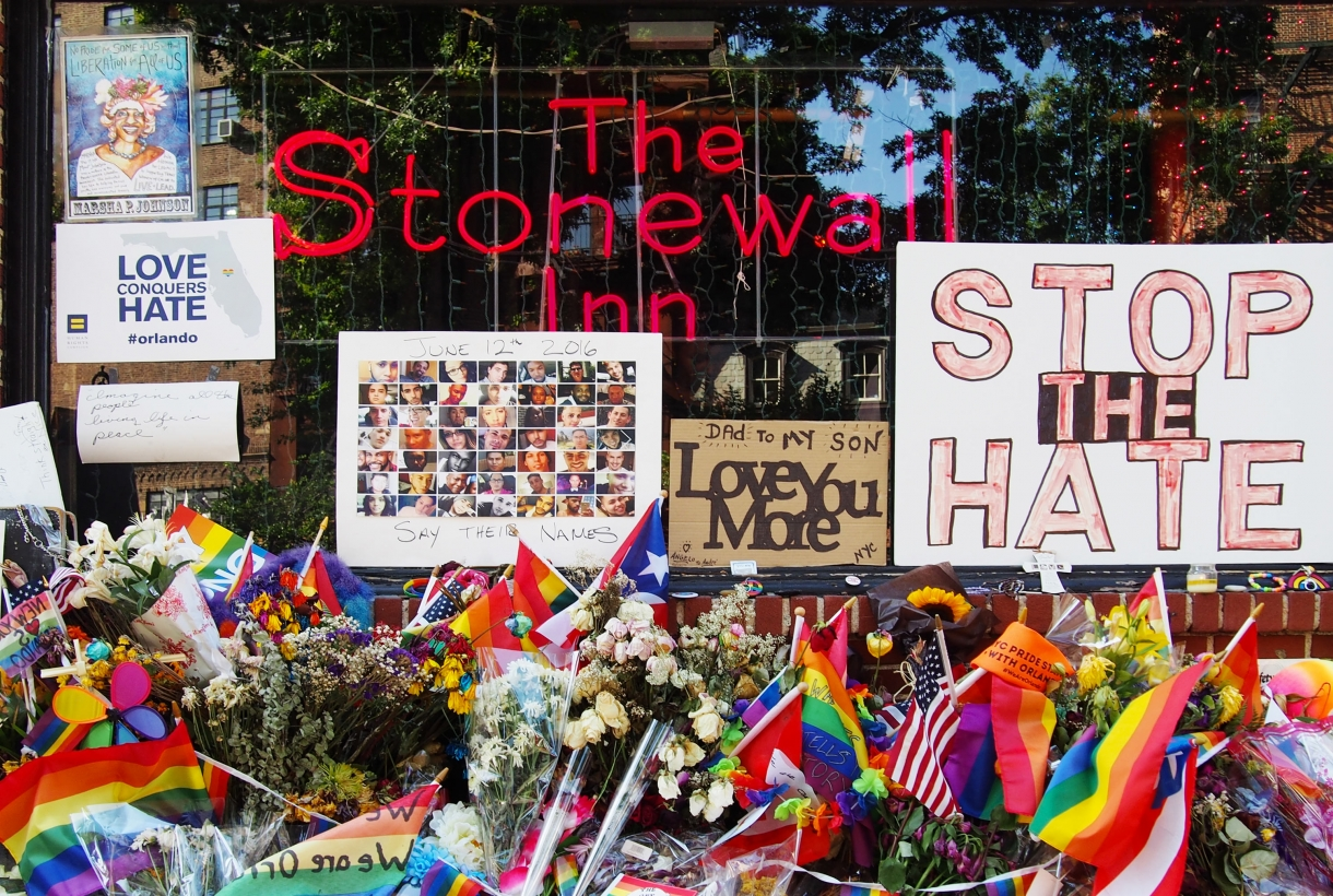 Tributes are paid to Orlando shooting victims at the Stonewall Inn