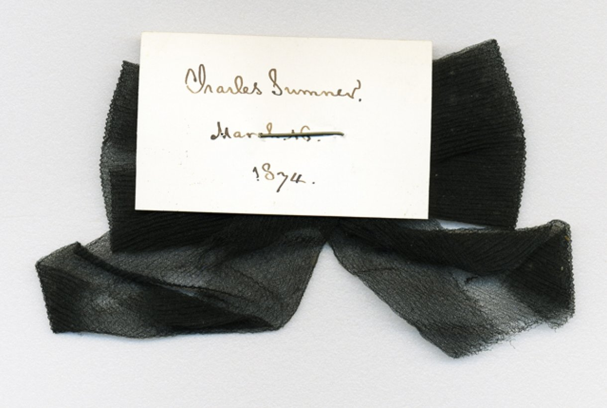 Charles Sumner's black mourning ribbon