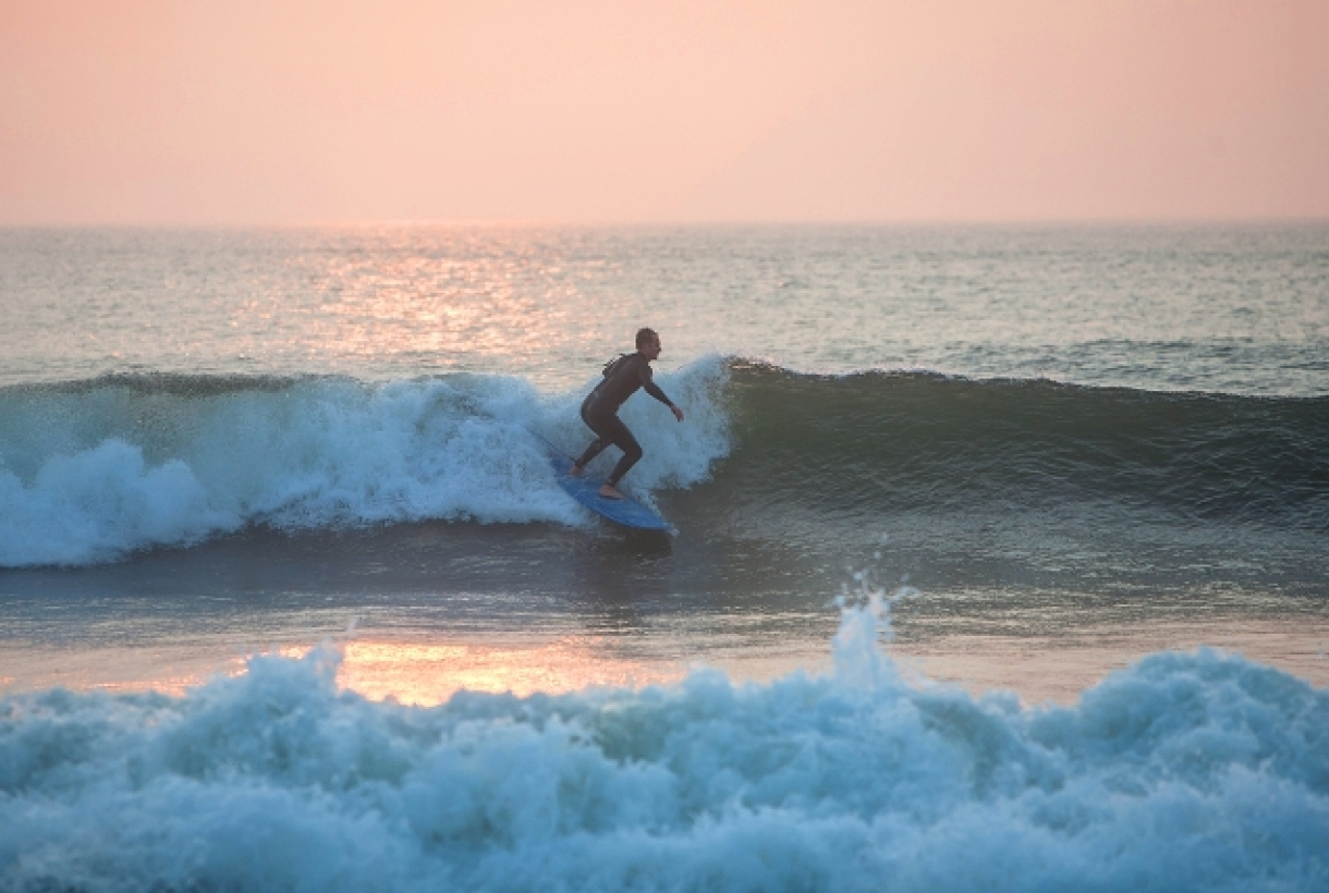 Man surfing in Cape Cod