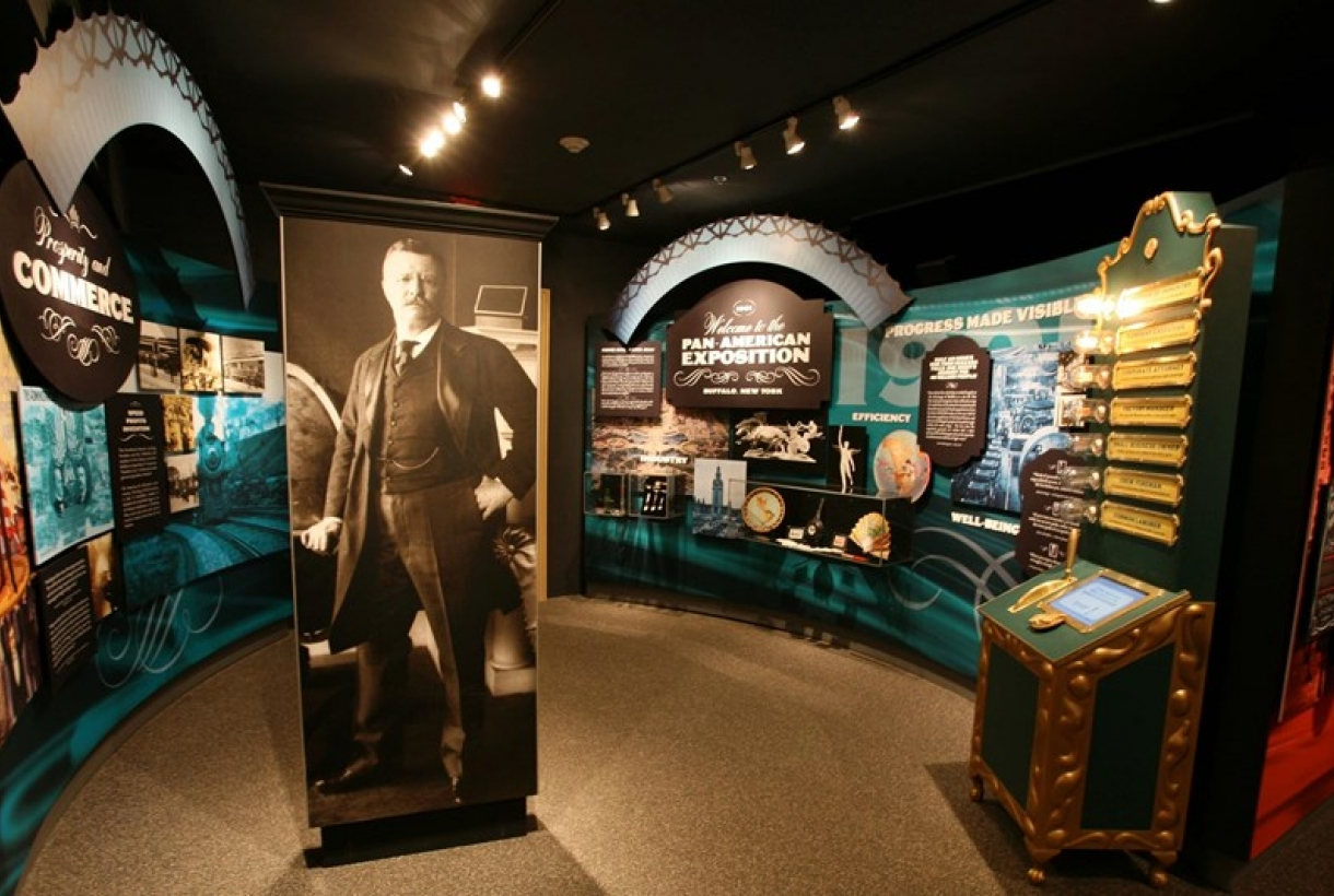 The interior of the Theodore Roosevelt Inaugural National Historical Site