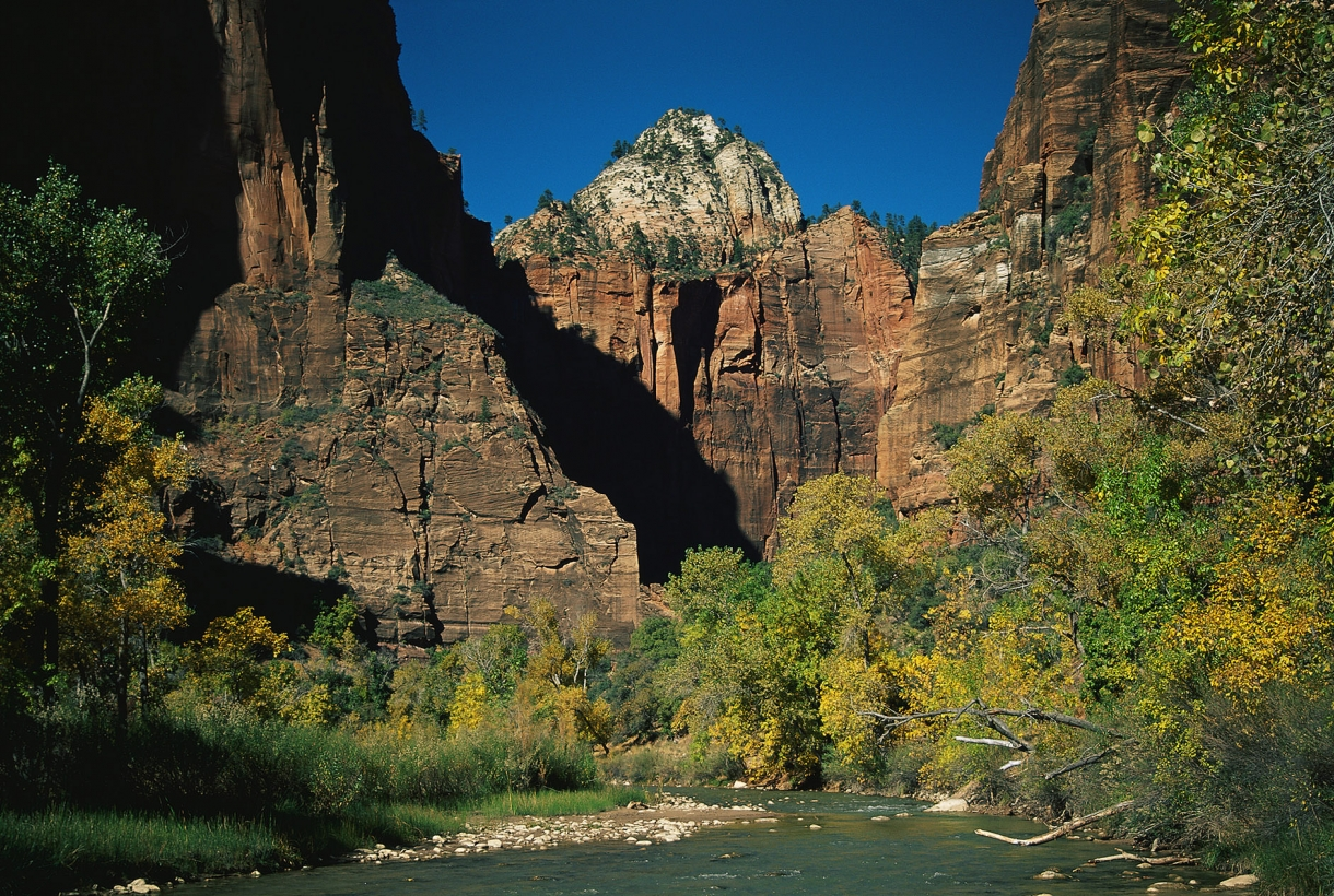 A rock formation at Zion National Park