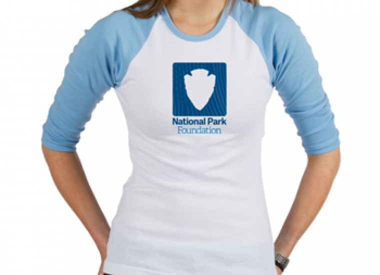 National park foundation blue and white Baseball Jersey