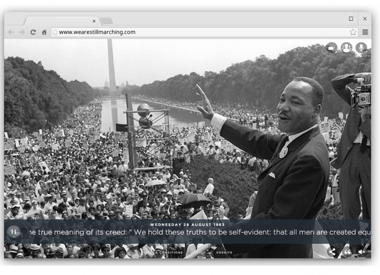 MLK jr. on website www.WeAreStillMarching.com