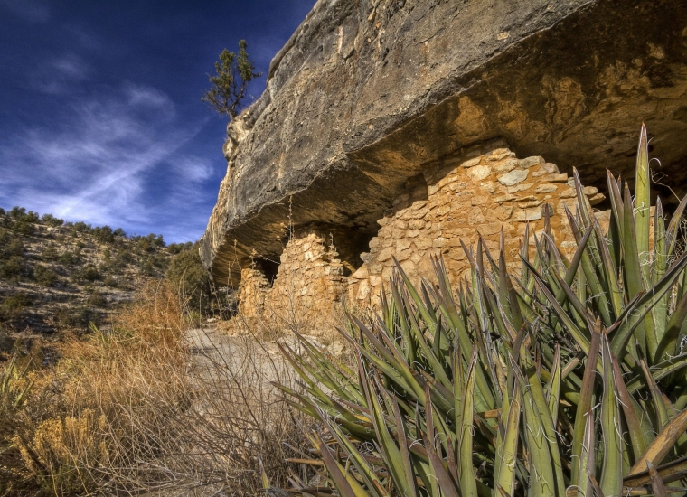 View of the ancient Sinagua Dwellings at Walnut Canyon National Monument by Sue Cullumber via Share the Experience
