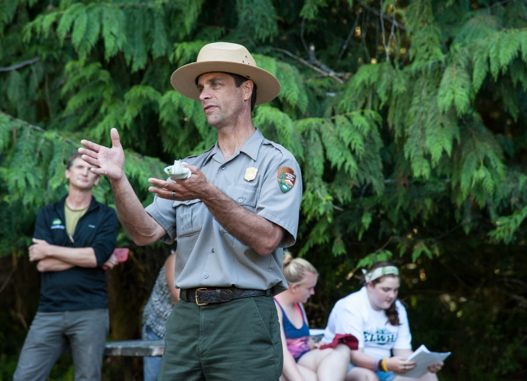 Teacher Training Programs take place in National Parks, and are led by park rangers