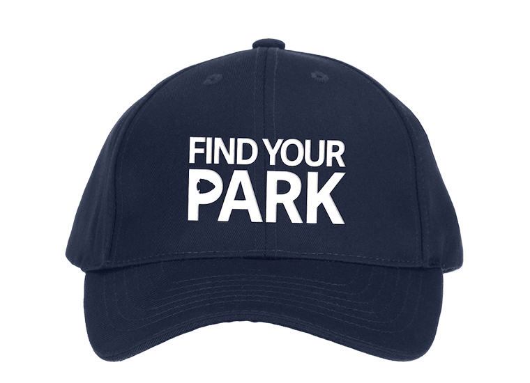 Blue Find Your Park baseball hat
