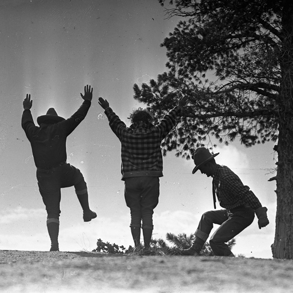 People dancing on a hill