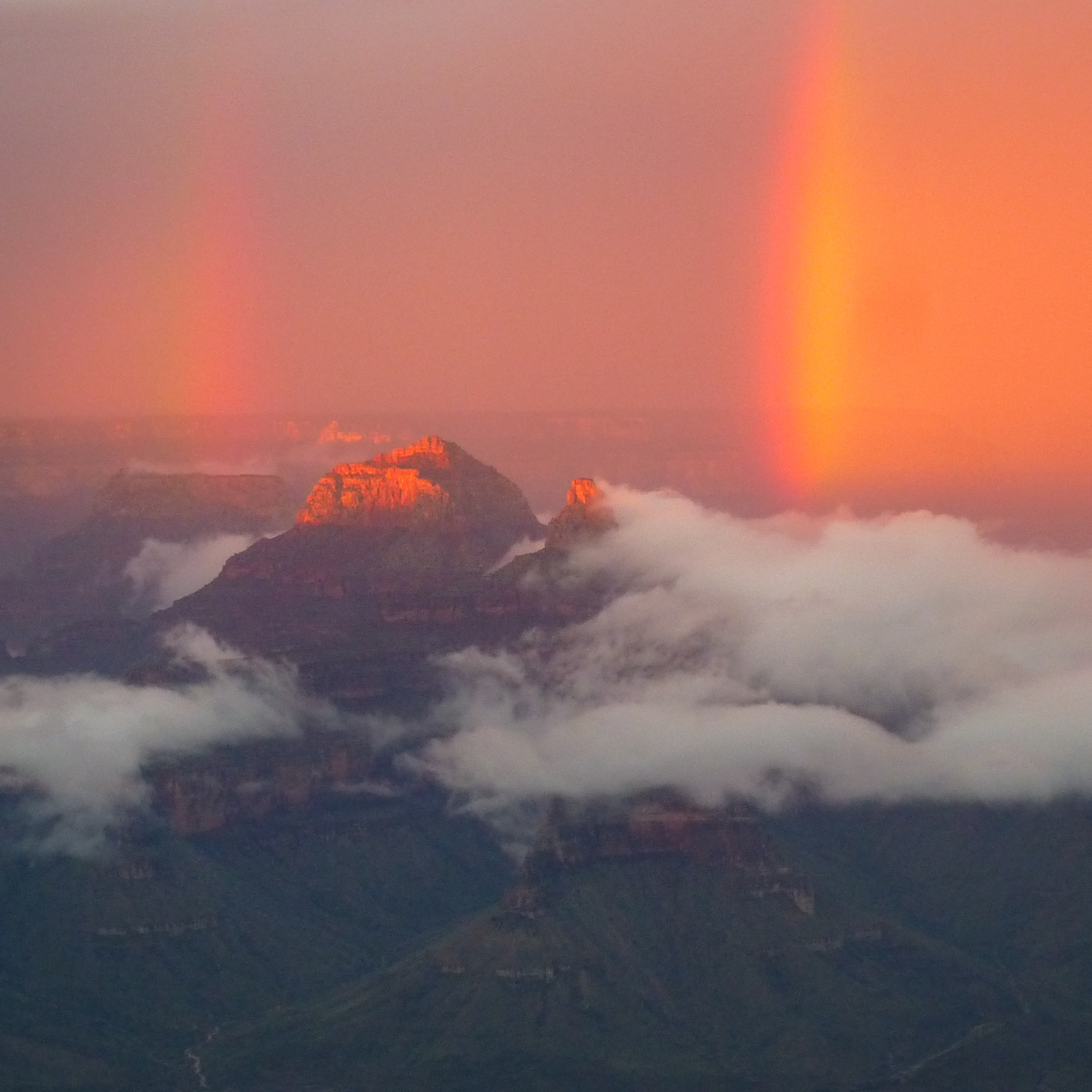 After thunderstorm at the Grand Canyon