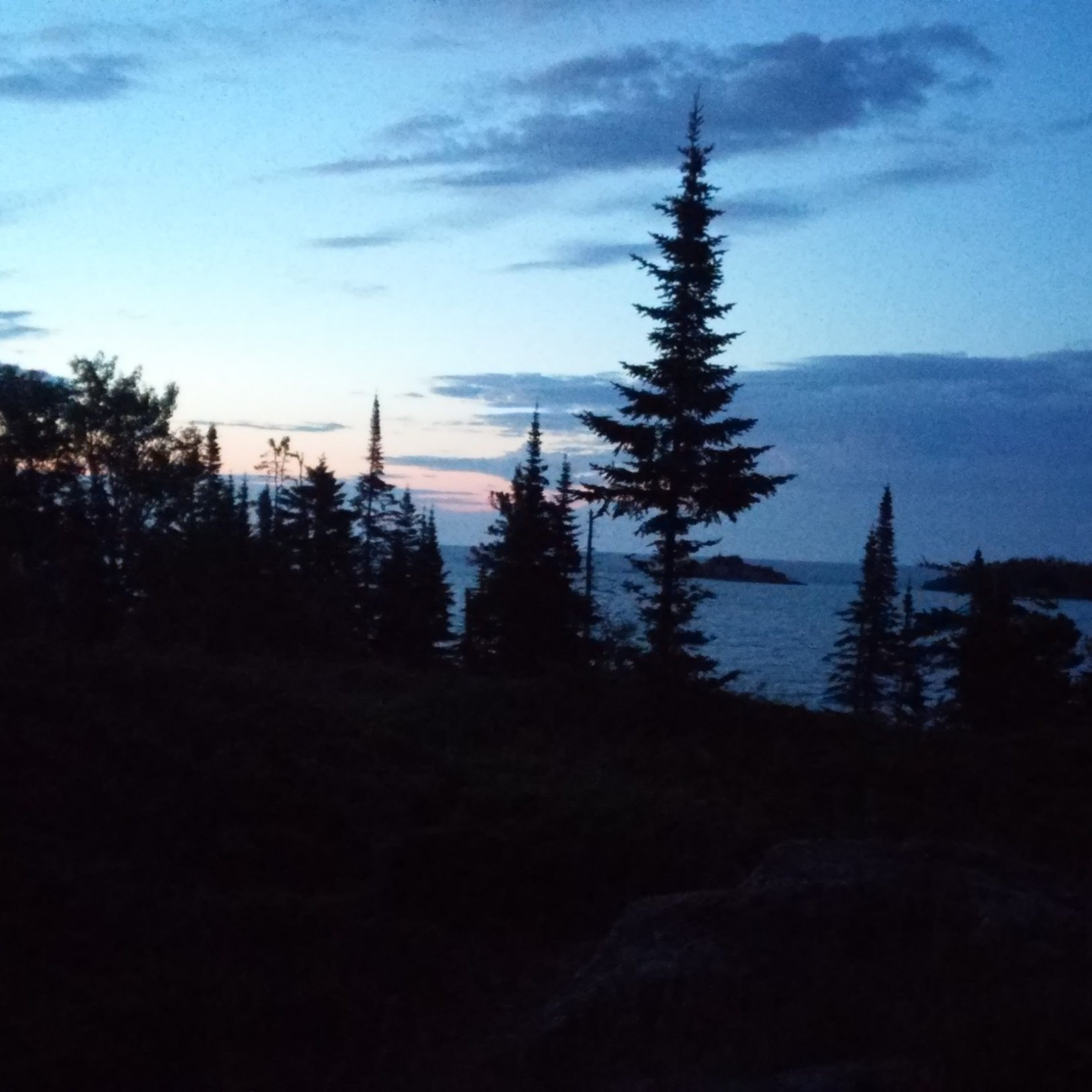 PreDawn Stoll trail, hiking east.