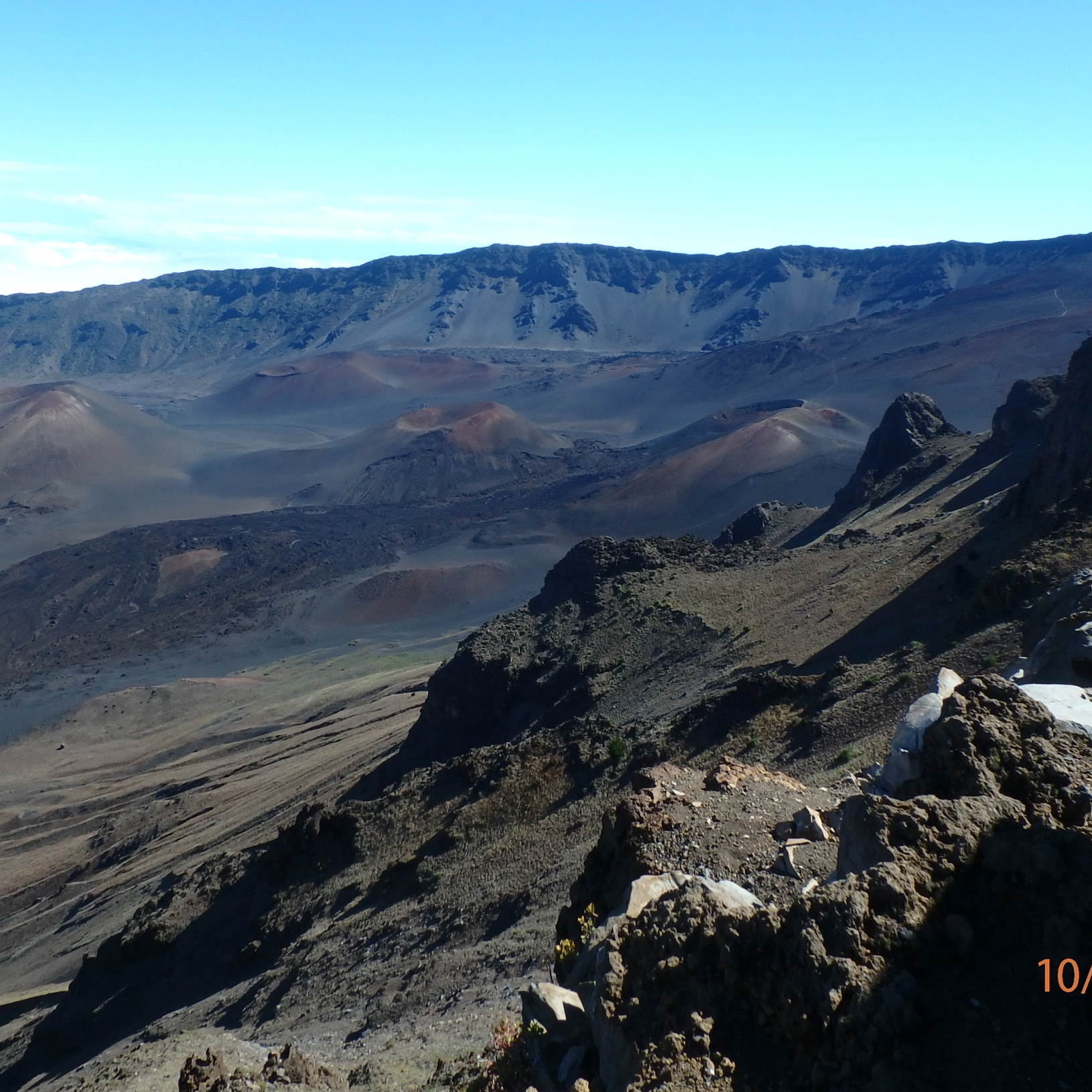 The crater at Haleakala National Park, 2016
