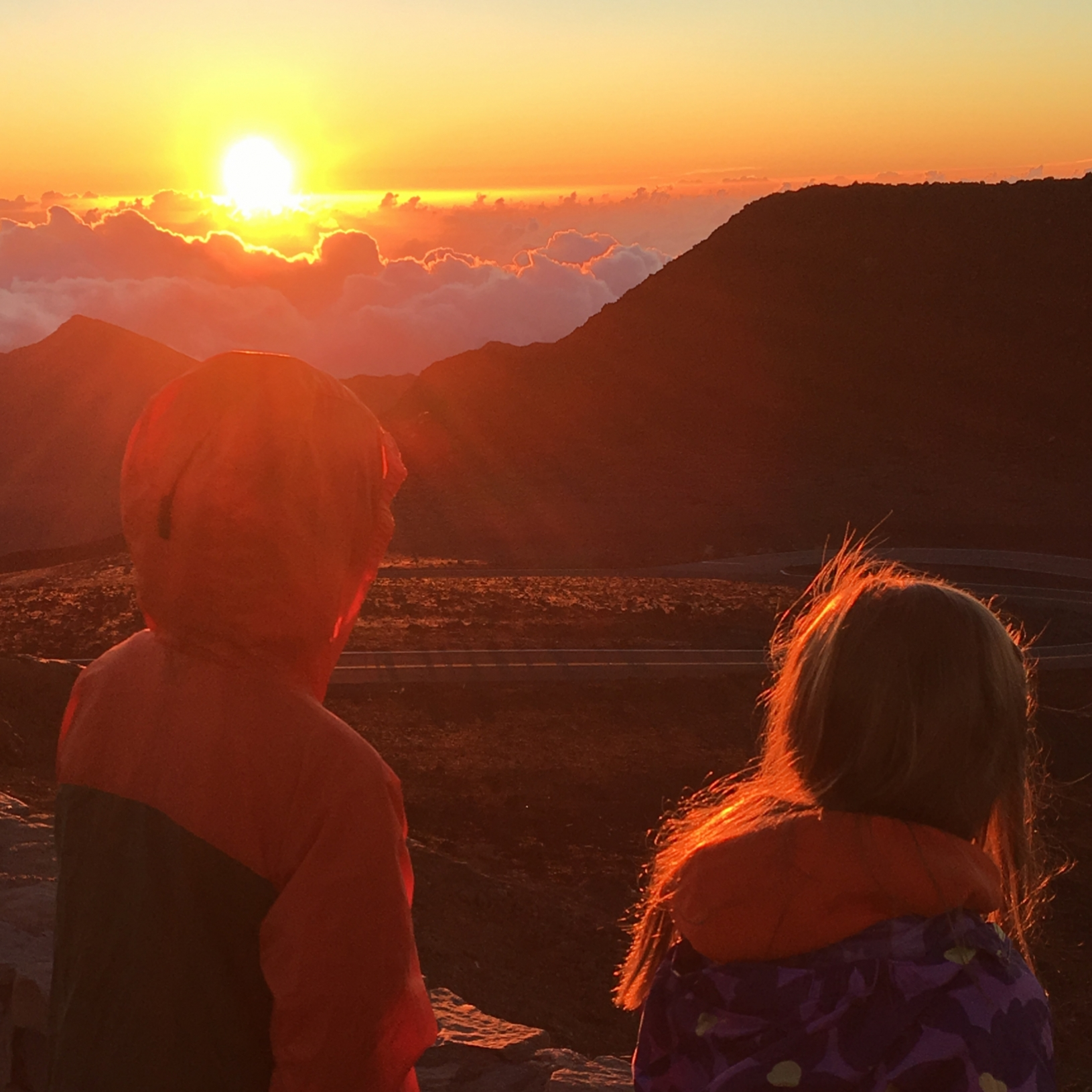 Fiery Sunrise From the Summit of Haleakala National Park