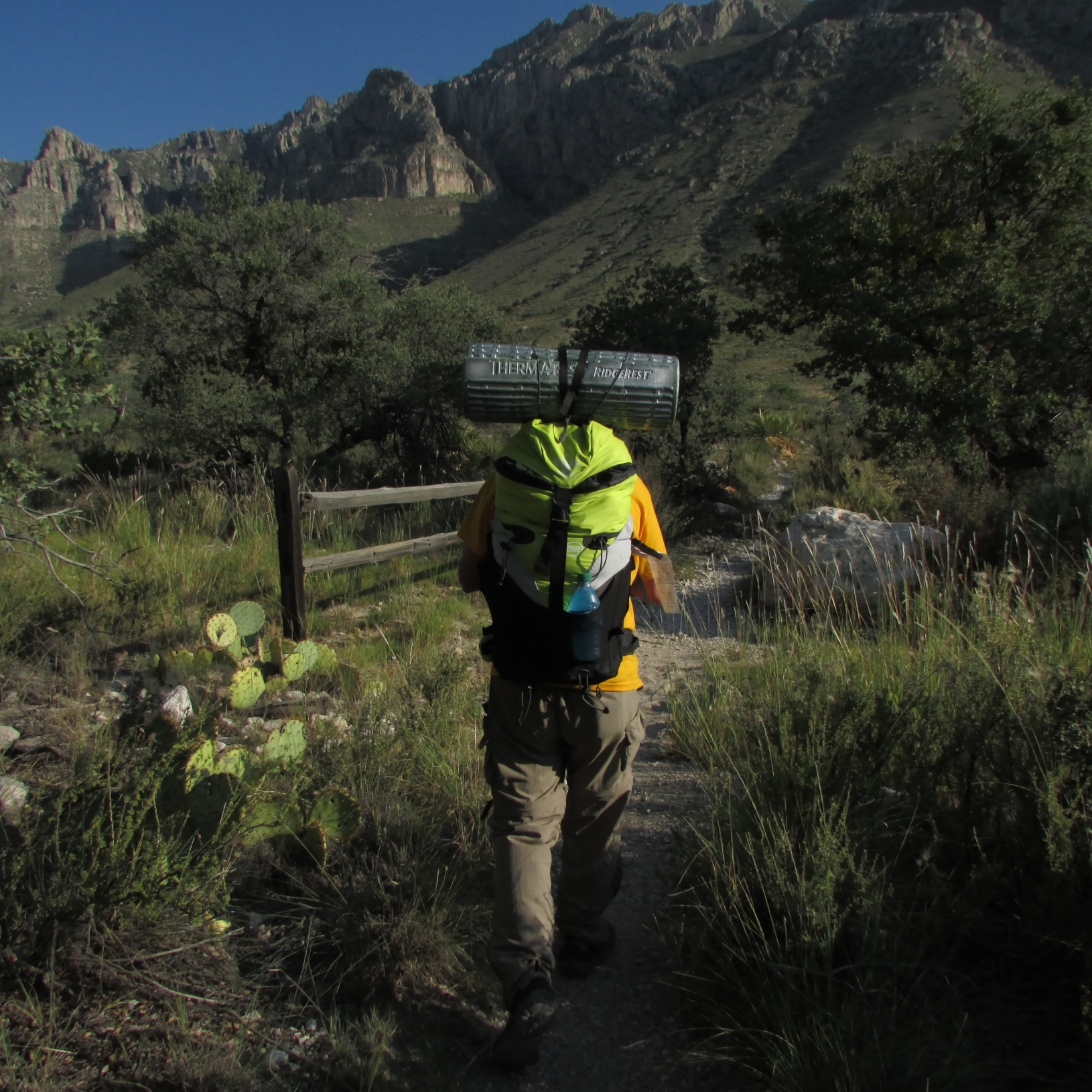 Backpacking in the Guadalupe Mountains
