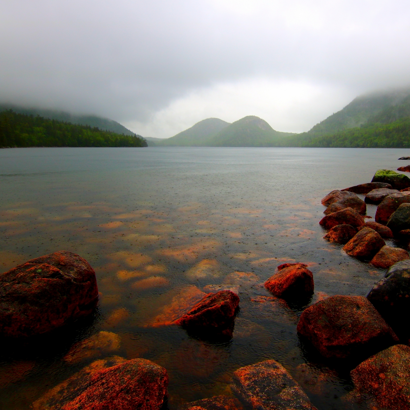 landscape letsexplore light weather water clouds adventure lake trees nature rain thebubbles acadianationalpark