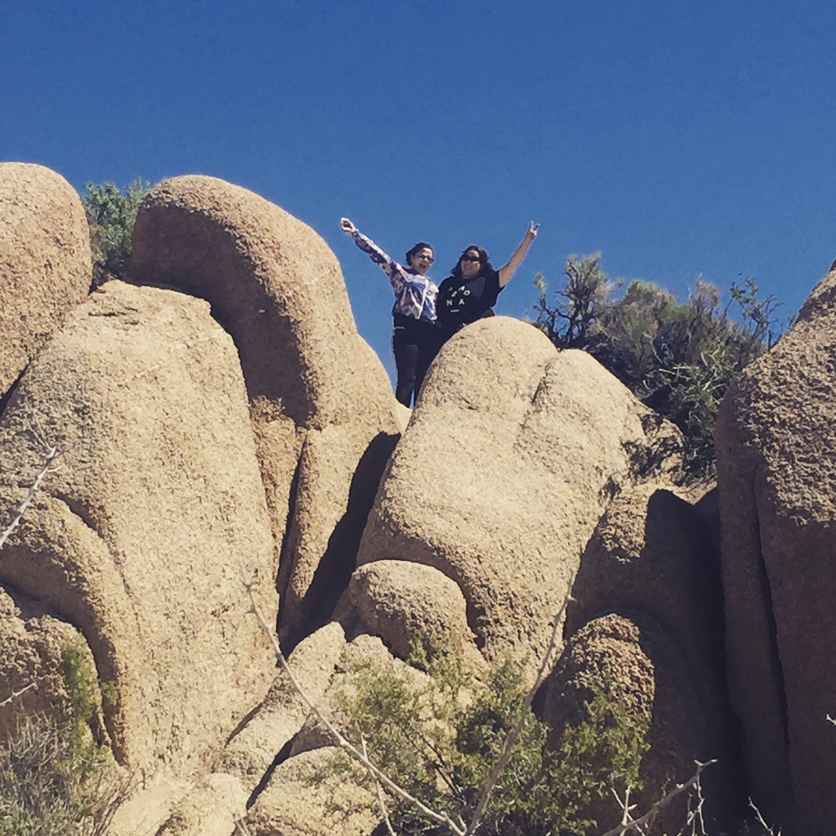 Rocking climbing at Joshua Tree National Park