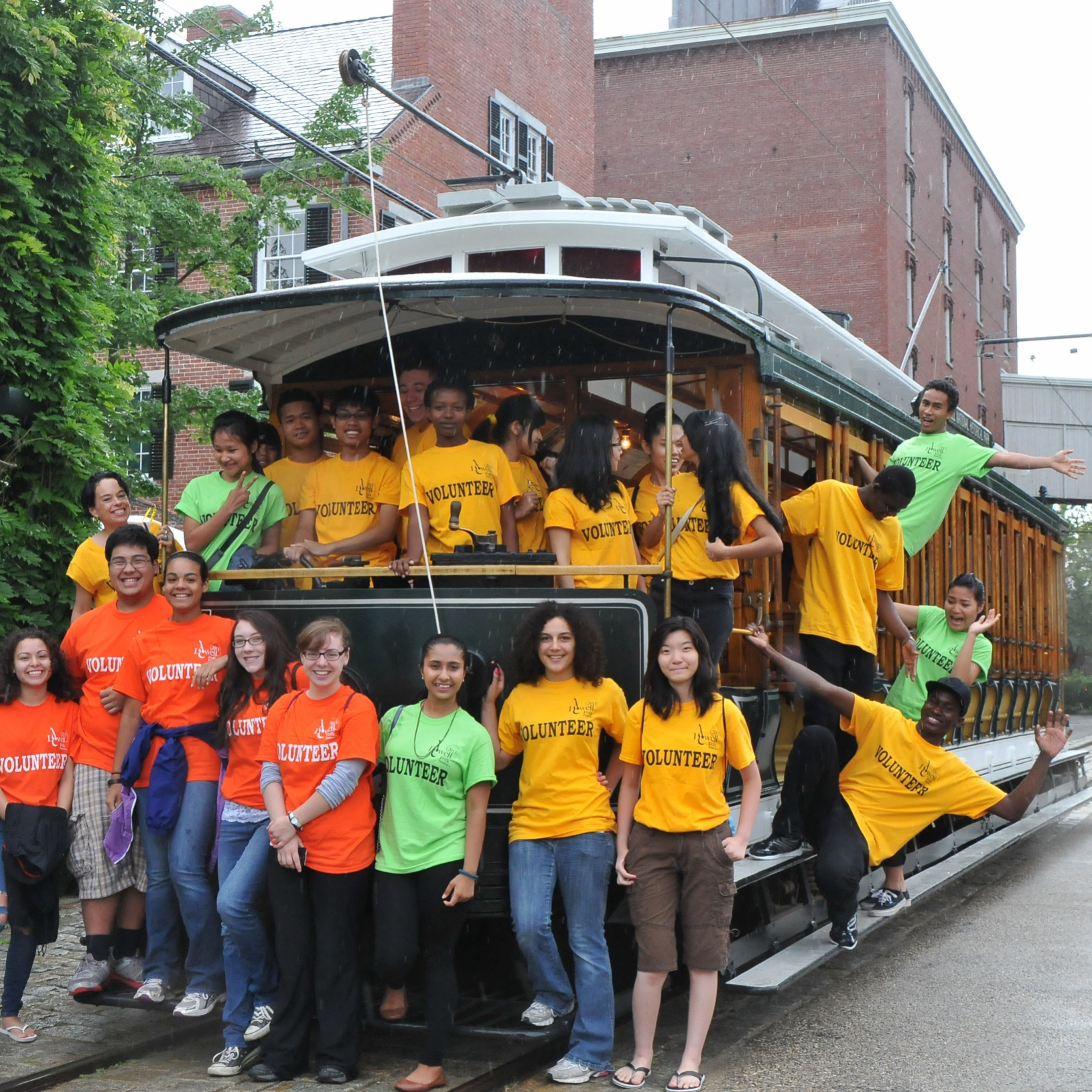 Rain Wont Deter Lowell High School Students