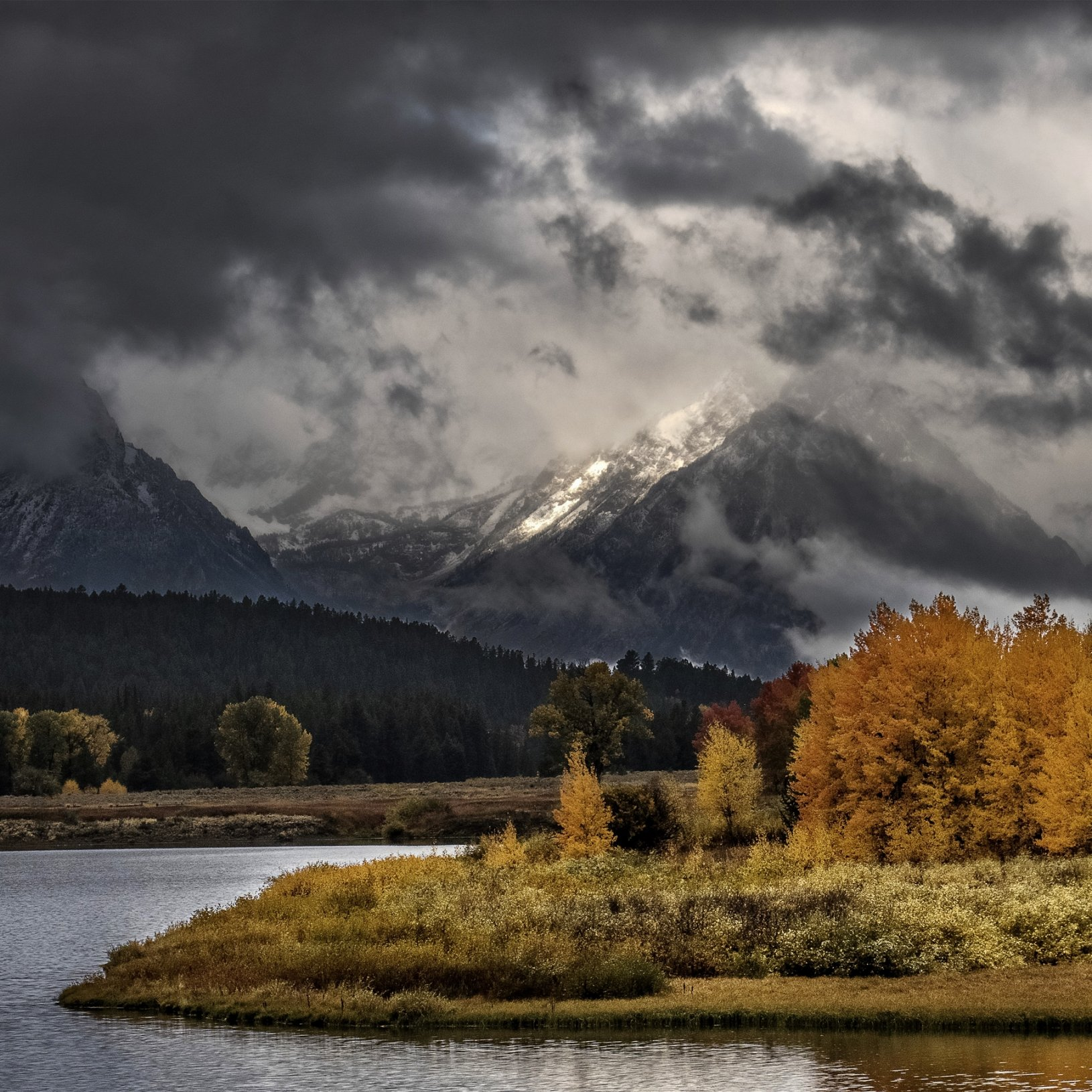 Clearing storm at Oxbow Bend Turn, Grand Teton National Park