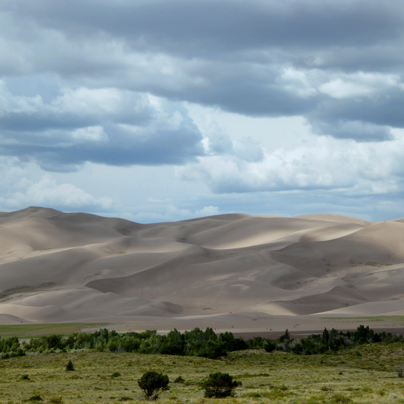 Sun & clouds over Great Sand Dunes National Park