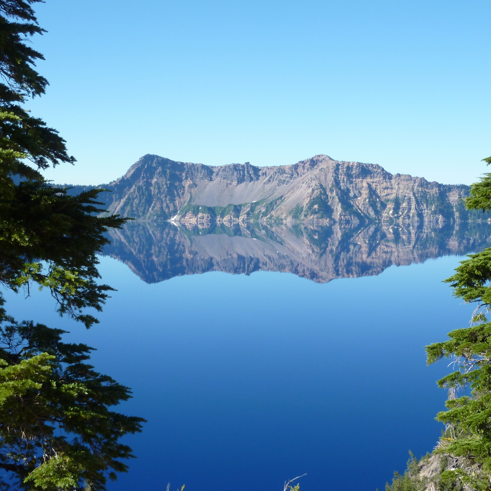Early Morning Crater Lake Reflections