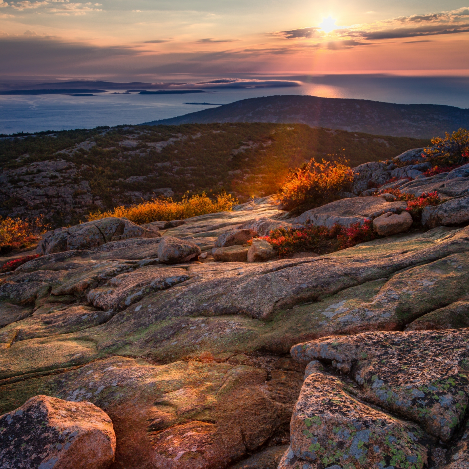 Sunrise on Cadillac Mountain in the Autumn of 2018