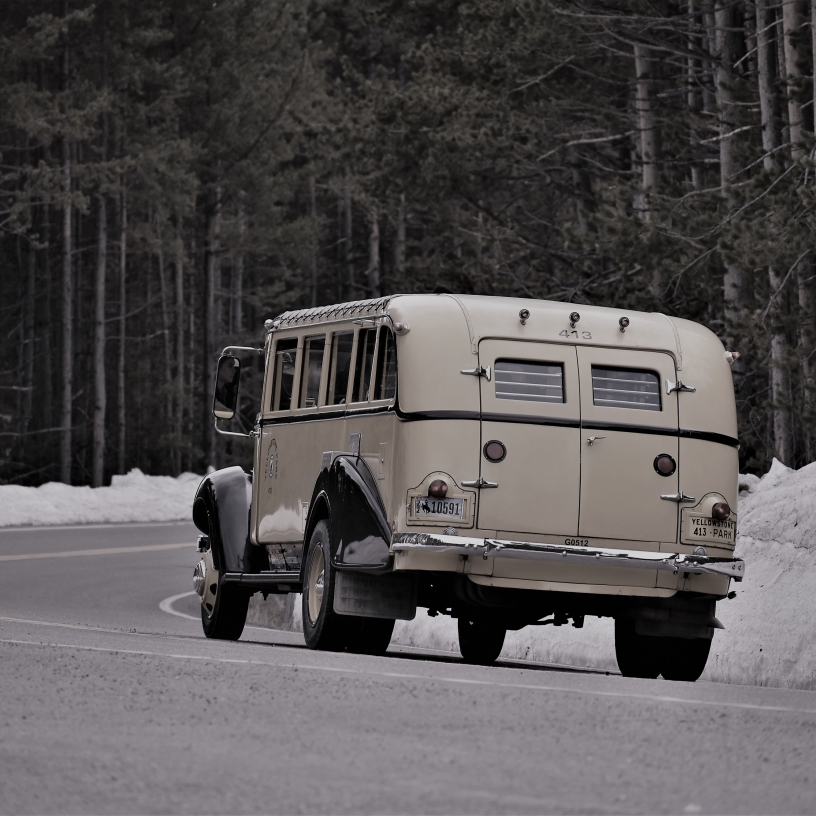 Old Yellowstone Tour Bus
