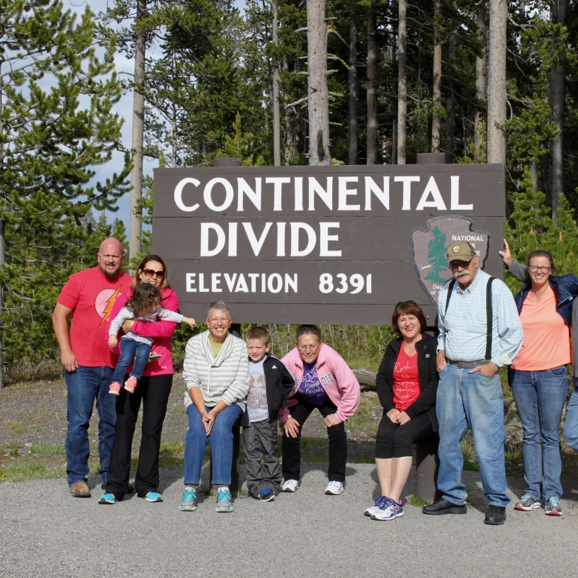 Here we are at the Continental Divide in Yellowstone National Park