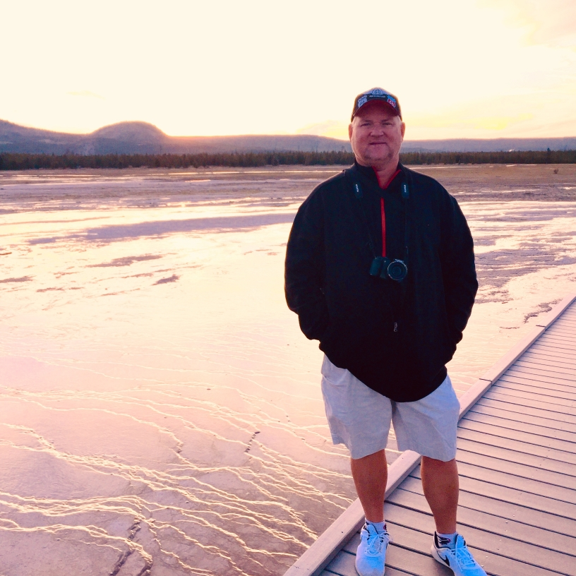 JULY SUNSET AT GRAND PRISMATIC SPRING 2019!