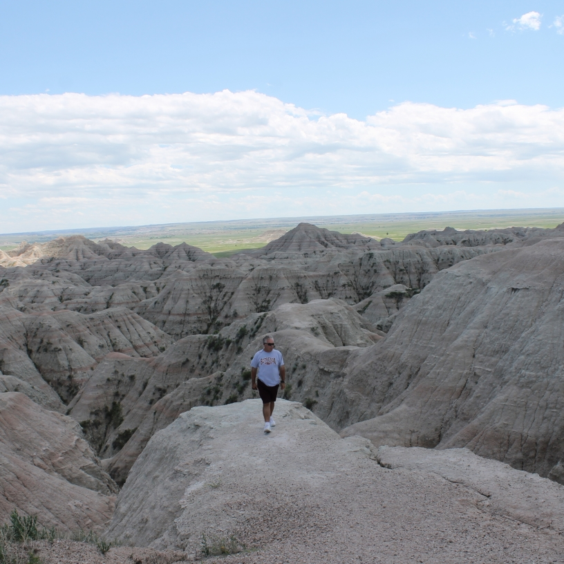 Badlands, South Dakota- a lunar-like landscape found on earth