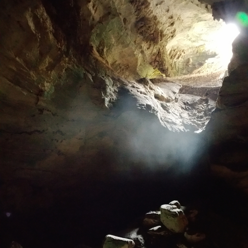 Inside the Natural Entrance to the Caverns
