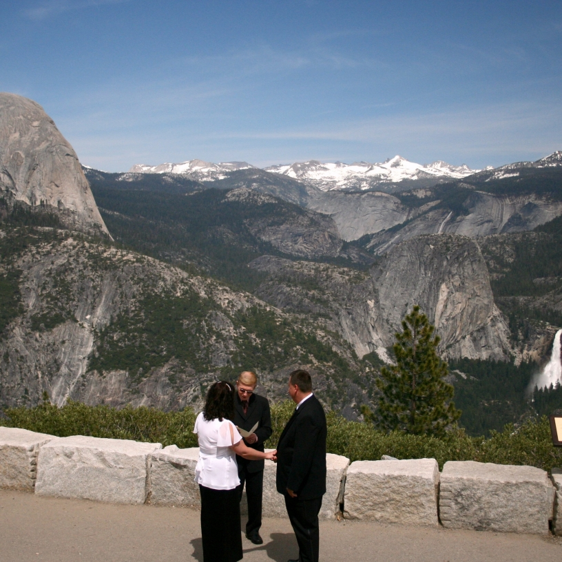 Getting married at Glacier Point in Yosemite
