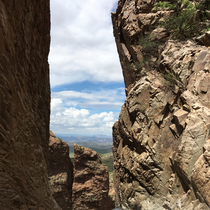 Hiking to the Window, through Chisos Basin at Big Bend National Park