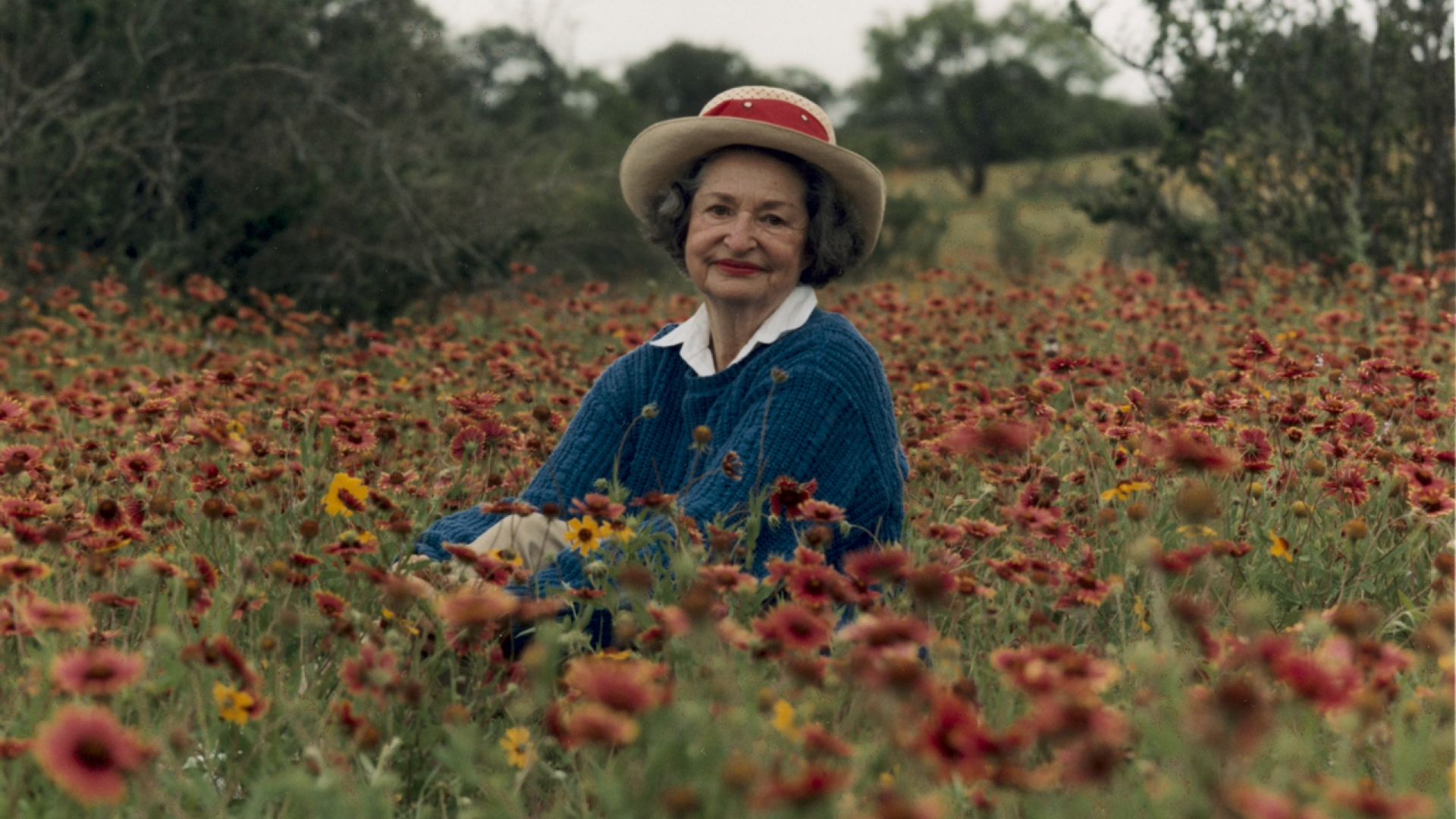 A photo of Lady Bird Johnson in her beloved Texas Hill Country