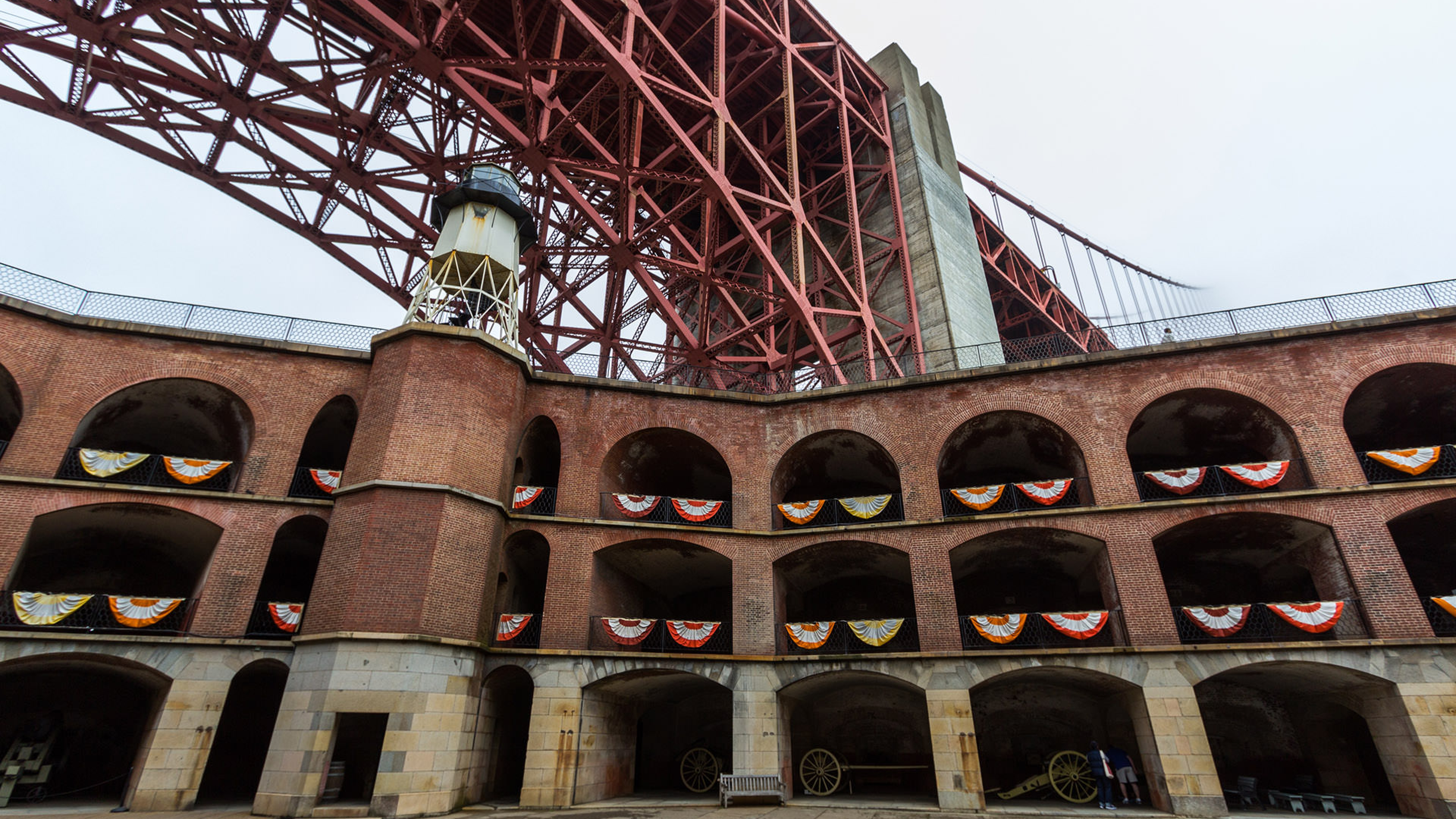 Tourist visiting Fort Point National Historic Site