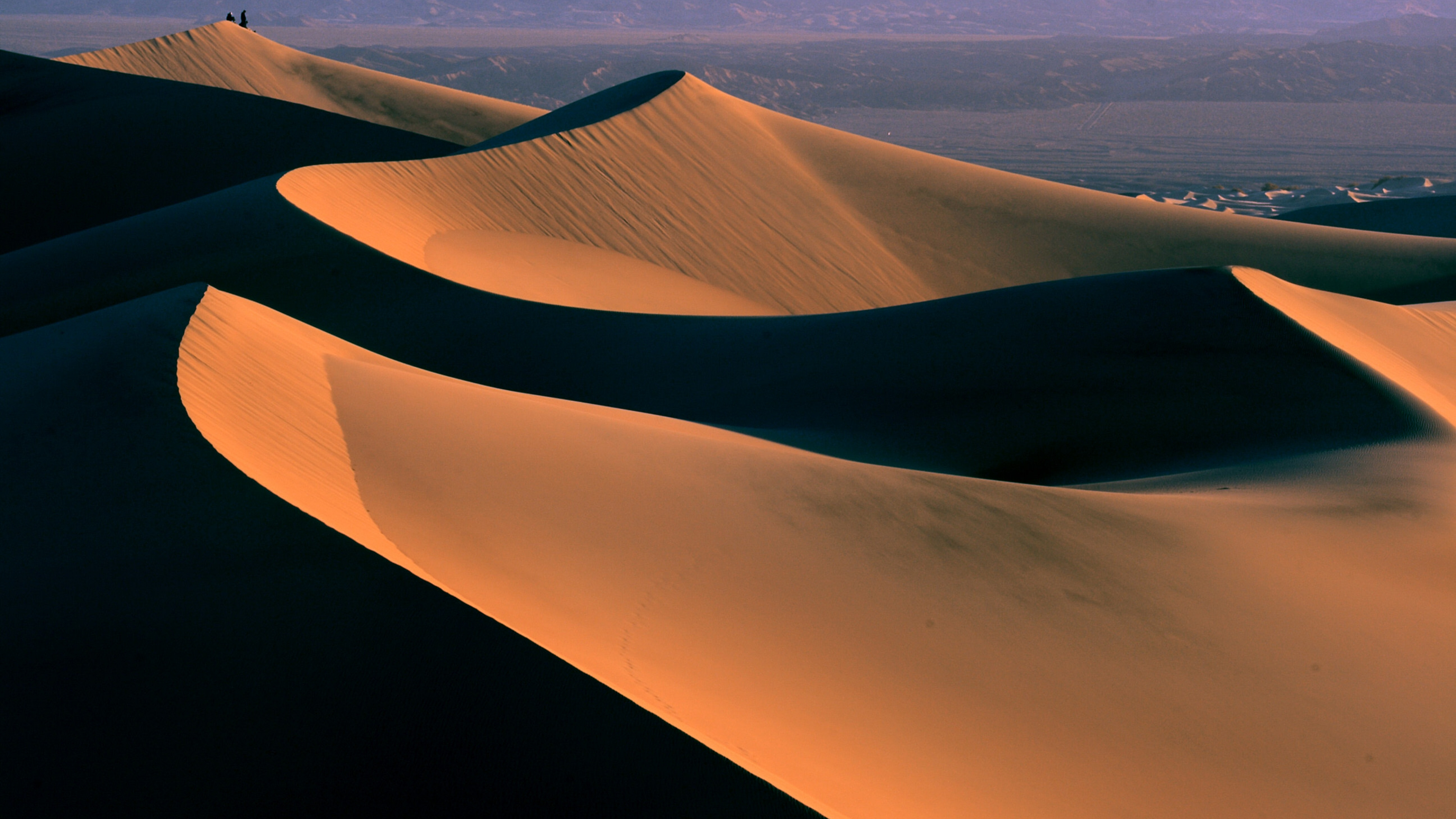 High contrast sand dunes at Death Valley National Park