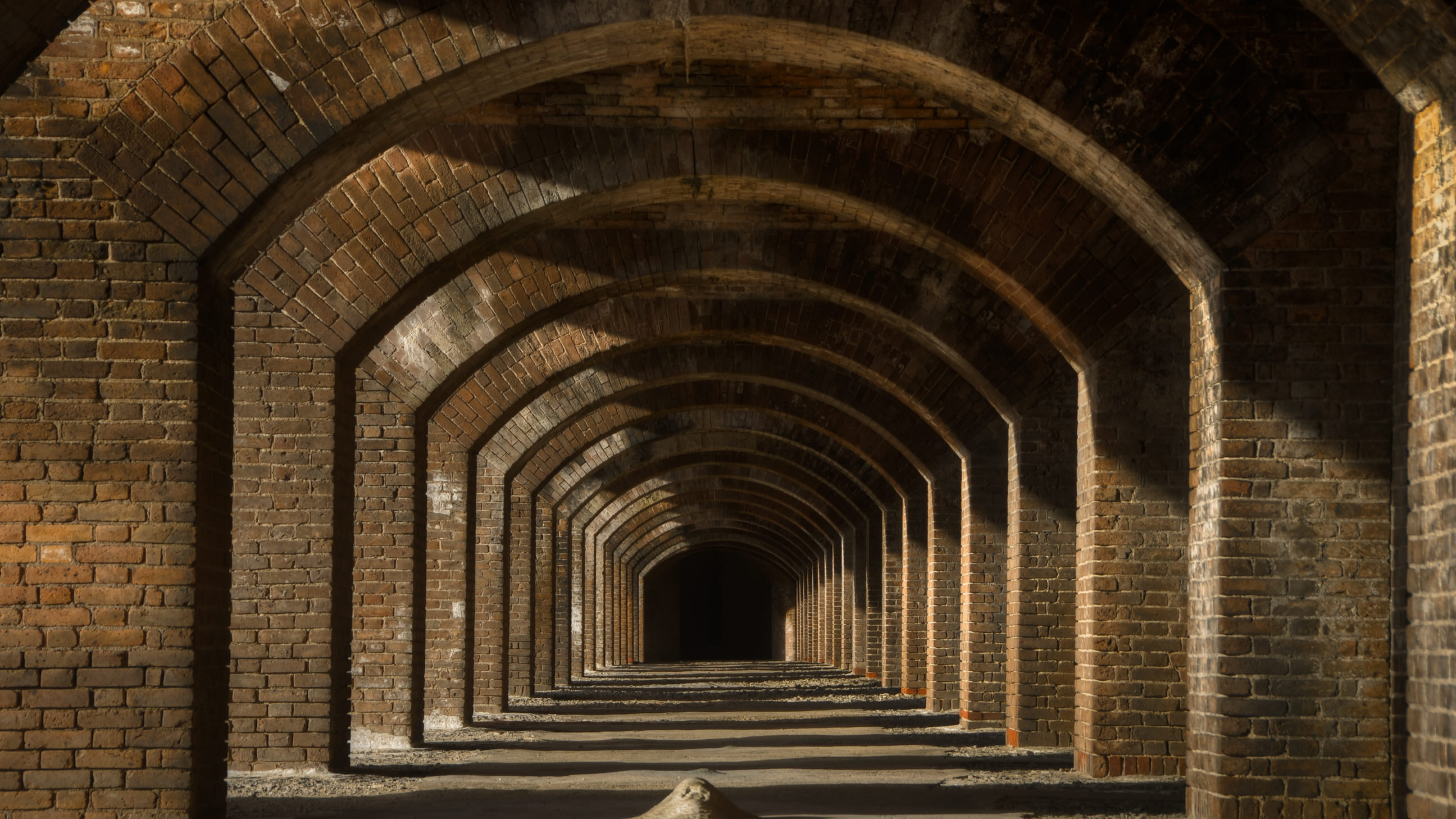 Brick archway at Dry Tortugas National Park