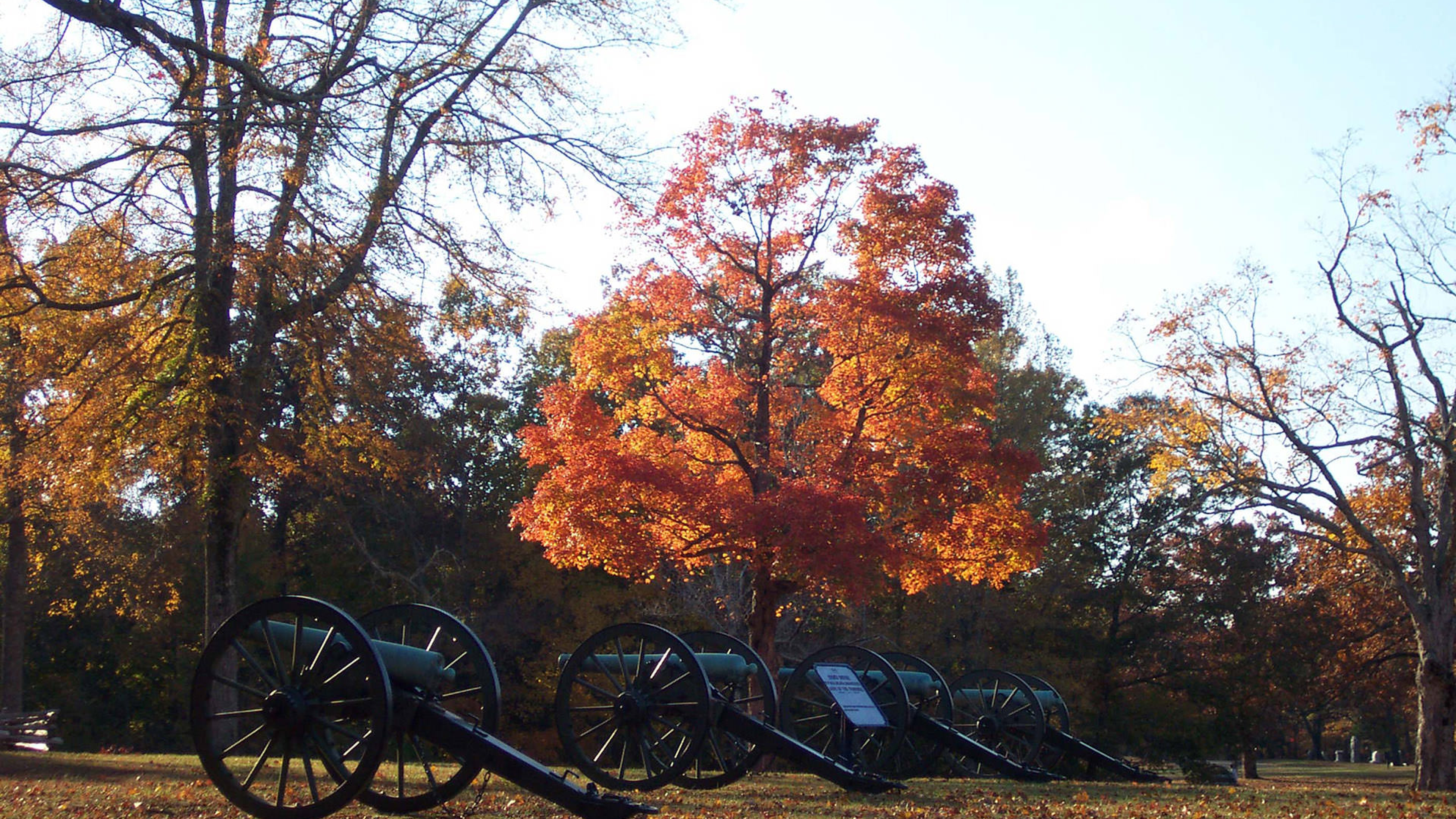 Shiloh National Park in autumn
